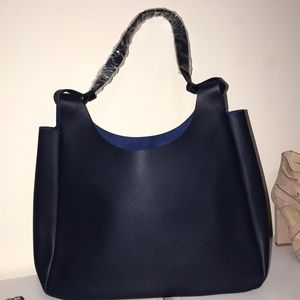 Navy blue Neiman Marcus tote never worn
